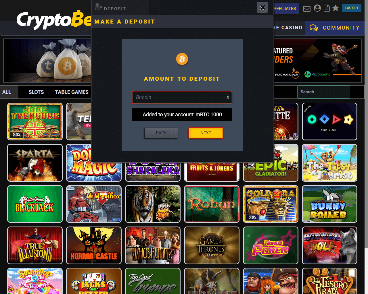 Review of CryptoBet Online Betting - bookmaker × sportsbook × bitcoin